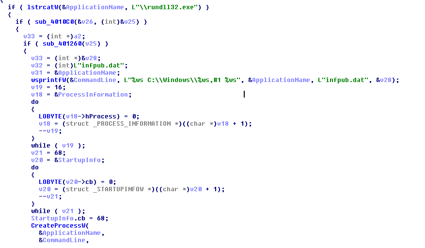 Fig 2. Infpub.dat creation code snippet